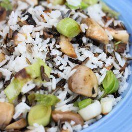 אורז עם אורז בר, פטריות וכרישה