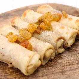 מיני בלינצ'ס גבינה וצימוקים