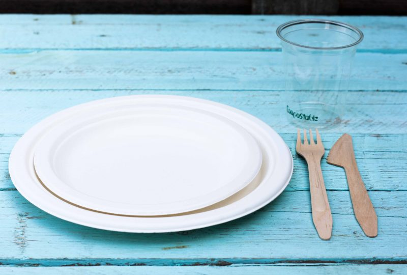 כלי אוכל מתכלים